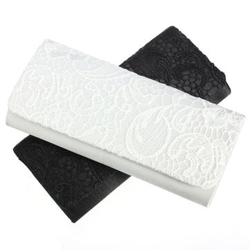 Women Lady Evening Party Lace Decoration Clutch Shoulder Handbag